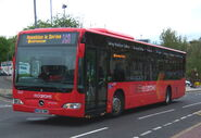 Go North East bus 5327 Mercedes Benz O530 Citaro NK58 DWE Red Arrows livery in Gateshead 5 May 2009