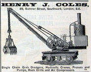 1890s Coles Steam Railway Excavator
