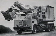 A 1960s Smith Of Rodley Excavator on Foden truck