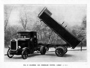 A 1920s Scammell Normal Tipper Lorry petrol engined six wheeler
