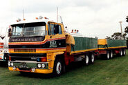 A 1980s Scammel S26 6X4 Diesel Cargolorry with trailer