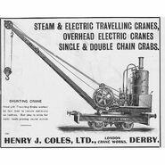 1880s Coles Railway Shunting Steam Crane