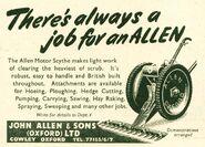 A 1950s Allen Of Oxford original Motorscythe