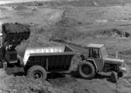 A 1970s Whitlock Fordson tractor with Steelfab Dumptrailer