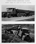A 1930s Scammell Rigid Six Pipecarrier with Trailer
