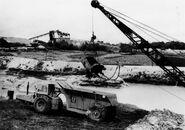 A 1960s Whitlock DD70 ADT Working in a mine