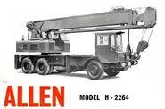 A 1970s ALLEN Cranetruck Diesel Hydraulic H2264