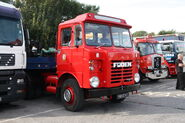Foden (YWB874T) and lowloader at Exelby services 2013 - IMG 1983
