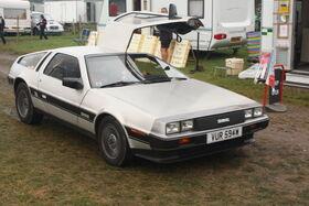 DeLorean car - VUR 594W at Cromford 2010 - IMG 9735