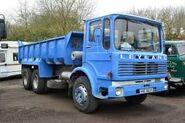 A 1980s LEYLAND Bison Diesel Tipperlorry