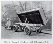 A 1920s Scammell Side Tipper Lorry sixwheeler
