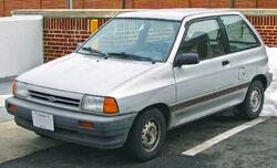 Pre-facelift Ford Festiva three-hatchback (US)
