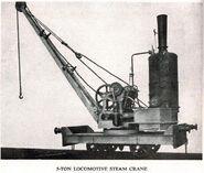 A 1900 Smith Of Rodley Steam Railcrane 5T