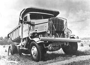A 1950s Scammell Mountaineer Dumptruck 4WD