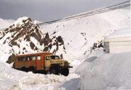 Ural-375D-based bus in Tajikistan