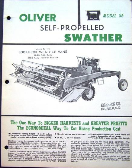 Oliver 86 swather