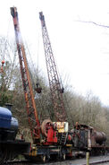 A pair of 1930s Smith Of Rodley Railway Steamcranes