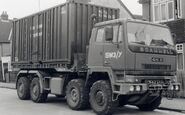A 1980s Scammell S26 8X6 Drops Lorry