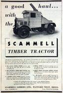 A 1930s Scammell Timberwork Lorry