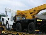 A pair of Rebuilt IRON FAIRY JONES Mobilecranes for delivery