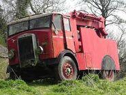 A 1930s LEYLAND Badger Petrol Towtruck awaiting restoration
