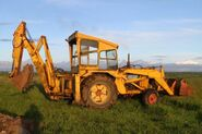 A 1980s Whtlock Brothers Fordson Digger Loader