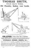A 1880s Smith Of Rodley Steam Crane Range