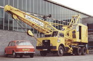 A 1980s Smith Of Rodley Cranetruck on Foden carrier