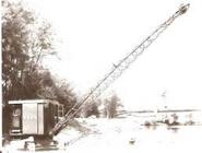 A 1930s Smith Seven Dragline oil engined