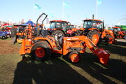 Kubota tractor fitted with loader and Backhoe attachment at LAMMA 2012 -IMG 3833.jpg