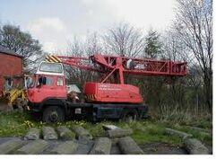 A 1974 Jones Fleetmaster crane on Bedford TK lorry