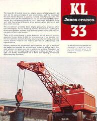 JONES KL33 Yardcrane