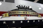 Amtrak 42's banner