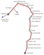 Tram 1 (Valenciennes) Plan 2006 01