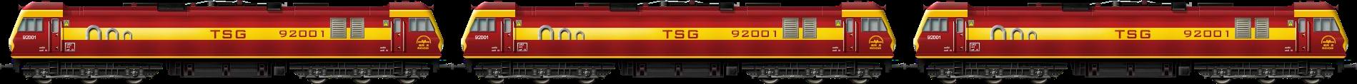 BR Class 92 Triple