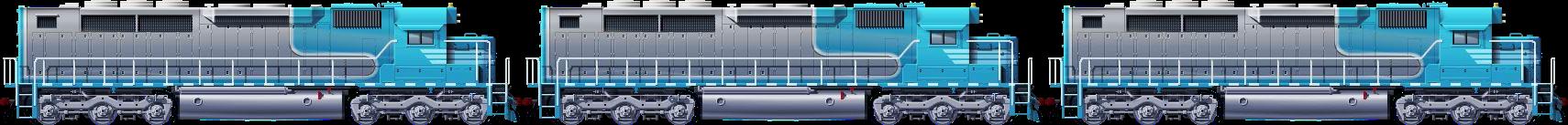 EMD SDP40 Triple