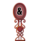 Character Sign Ampersand (Red)