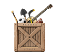 Crate with props