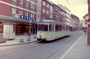 Gladbeck, Lambertistraße lijn10 GT6.jpg