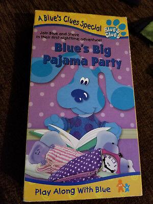 Blue's Big Pajama Party VHS