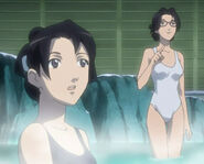 Lori and Lucy in the Hot Spring.
