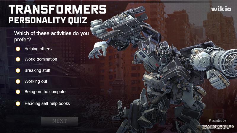XD1/Transformers Personality Quiz