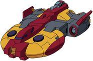 Animated Omega Supreme spaceship