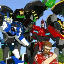 Autobots and Denny cheer.jpg