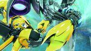 Bumblebee and Megatron in groundbridge