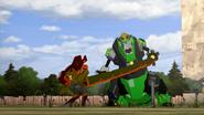 Scorponok fighting Grimlock