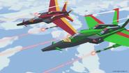 Acid Storm and Thrust jet