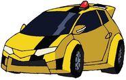 Animated Bumblebee car