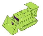 Transformers G1 Bonecrusher bulldozer