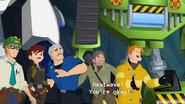 Charlie, Woodrow, Graham, Dani, and Kade under the ground